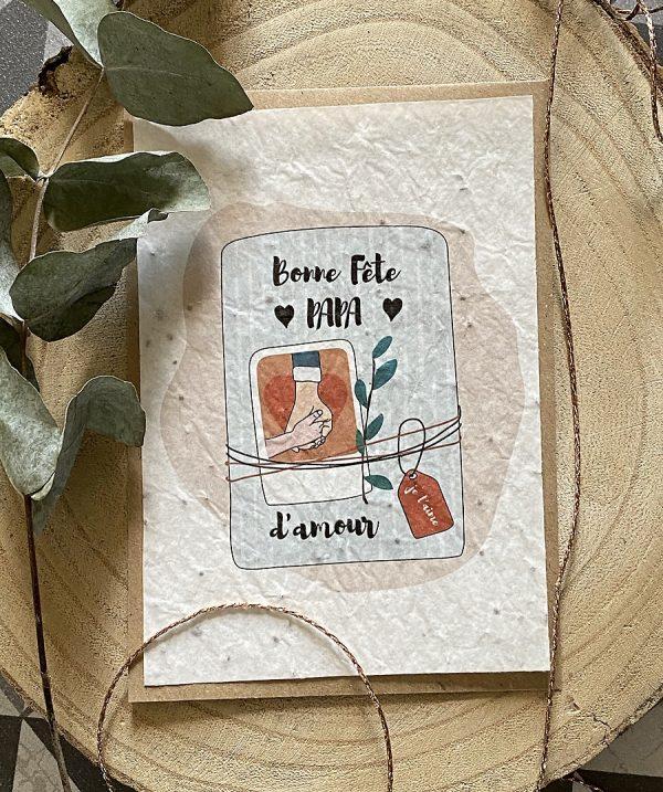 carte à planter bonne fête papa d'amour